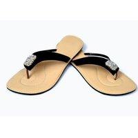 Brown Flat Ladies Slippers