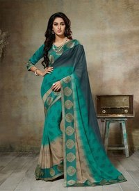 Attractive Look Plain Sarees
