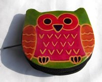Embossed Leather Coin Purse