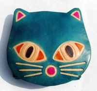 Animal Face Leather Coin Holder