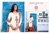 Ganga Linen With Embroidery Ladies Suits