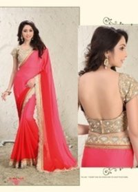 Designer Saree With Stitched Blouse