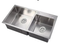 Stainless Steel Double Bowl Kitchen Sink (N8245)