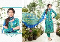 Zebba-4 Ladies Cambric Long Embroidery Suit