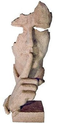 Antique Piece Half Face Stone Made Sculpture