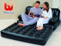 Bestway 5 In 1 Black Air Inflatable Sofa Bed