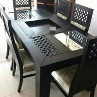 Elegant Wooden Dining Table Chair Set