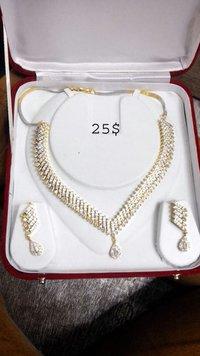 Artificial American Diamond Necklace Set