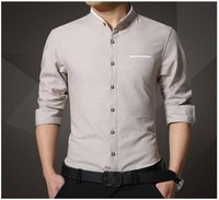 Mens Stand Collar Casual Shirts