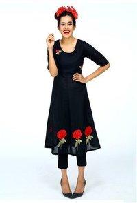 Rose Anarkali Dress
