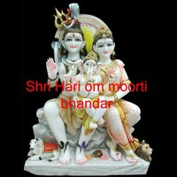 Shiva Parvati With Family Marble Statues