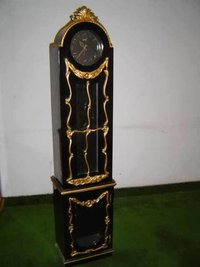 Hand carved wooden clock case