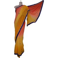 Half & Half Colors Shades Designer Stone Work Saree