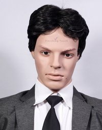 Fluffy Men's Hairstyle Full Lace Human Hair Wig