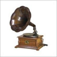 Shiny Brass Gramophone