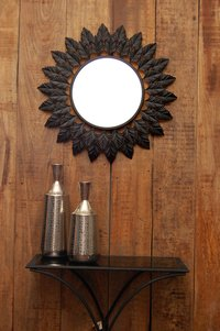 Logam Iron Leaf Wall Mirror