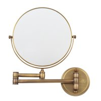 Magnifying Mirror Polished Brass 8 Inch - 5x Magnification