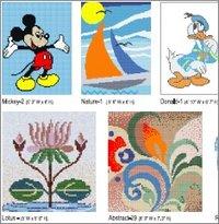 Customized Glass Mosaic Tiles CAD Murals
