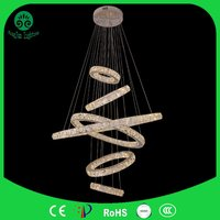 Fashion Stainless Steel Crystal Pendant Cross Rings Stair Crystal Chandelier