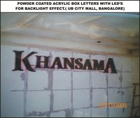 Powder Coated Acrylic Box Letters With Led