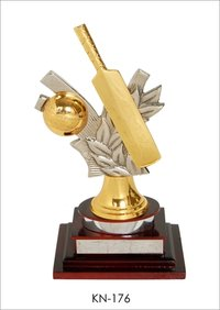 Cricket Bat & Ball Trophy