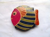 Fish Shape Leather Coin Purse