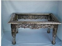 Antique Silver Tea Table