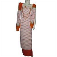 Cotton Mirror Work Suit Ladies Dress Material