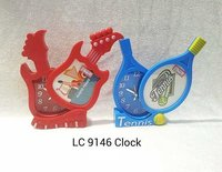 Plastic Clock With Alarm And Photo Frame (LC 9146)