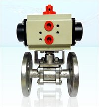 Pneumatic Rotary Actuators With Ball Valve