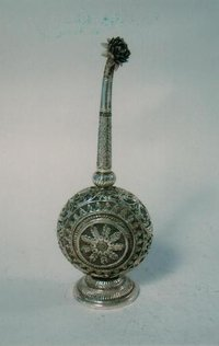 Handcrafted Silver Gulabdani (Perfume Holder)