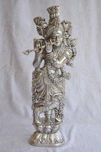 Silver God Krishna Statues