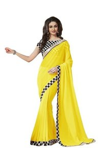 Designer Sarees (Chess Yellow)