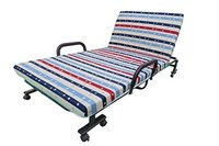 Folding Portable Bed With Mattress And Wheels