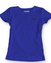Girls Royal Blue Solid T-shirt