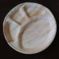 Multi Partition Leaf Plate
