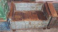 Wooden Upcycled Pitara Sofa