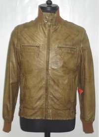 Brown Color Mens Leather Jacket