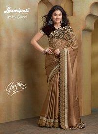 Gold Net Designer Sarees