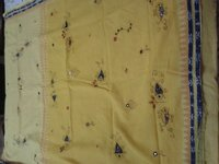 Designer Hand Applique Cotton Sarees