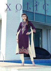 Ladies Cotton Satin Trendy Salwar Kameez Suit