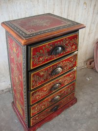 Indian Painted Chest Drawer