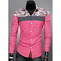 Two Colour Linen Casual Shirts