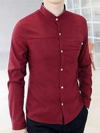 Full Sleeve Red Casual Shirts