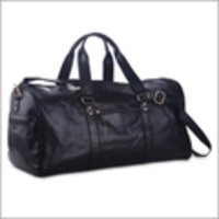 Black Leather Luggage Bag
