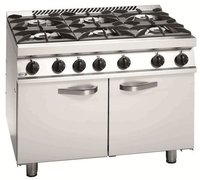Commercial Six Gas Burner Cooking Range