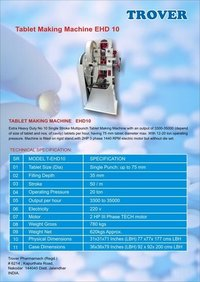 Air Freshner Tablets Machine