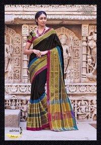 Cotton Silk Black Sarees