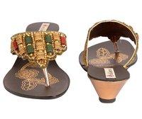 Ladies Designer Kolhapuri Heels Slippers