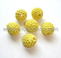 Indian Yellow Glass Beads